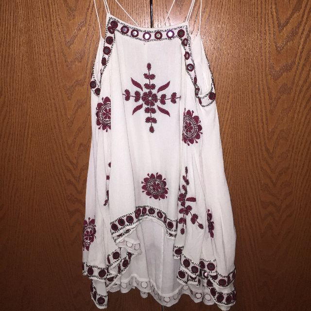 Free People- Bejewelled long blouse