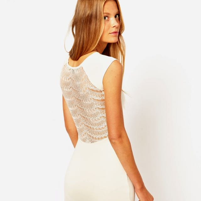 French Connection Lace-back Bodycon Dress