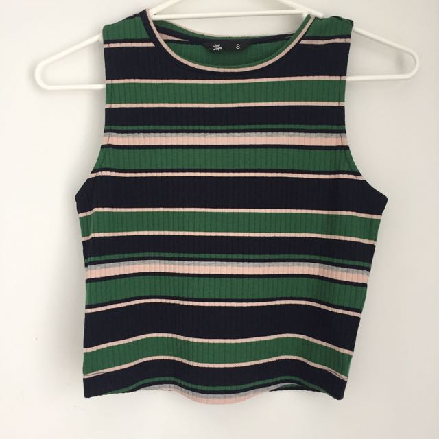 Stripe Crop Top/Singlet