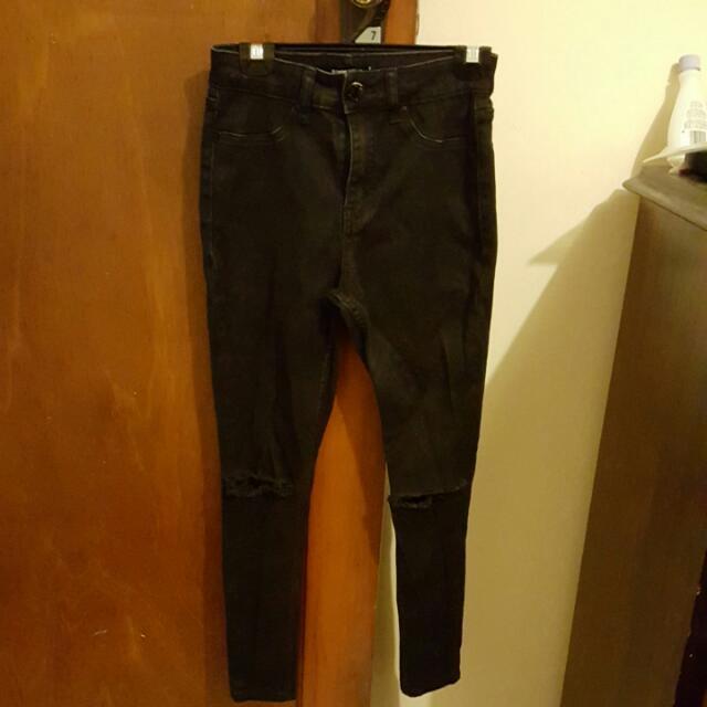 Glassons Size 8 Skinny Jeans  - Black