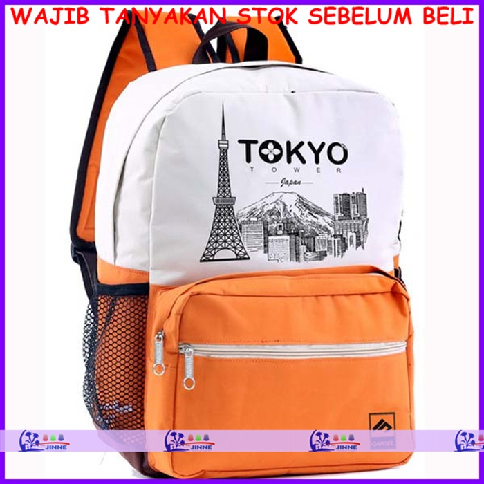 Gsfab 010 Tas Sekolah Wanita Kuning Putih Tenage Bag Collection