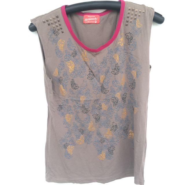 Herbench Muscle Tee(studded)
