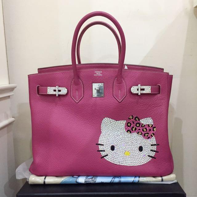 hermes pink hello kitty 53123a8d8de37