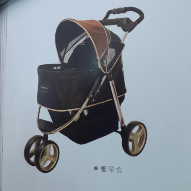 ibiyaua  全新奢華尊爵鋁合金寵物推車