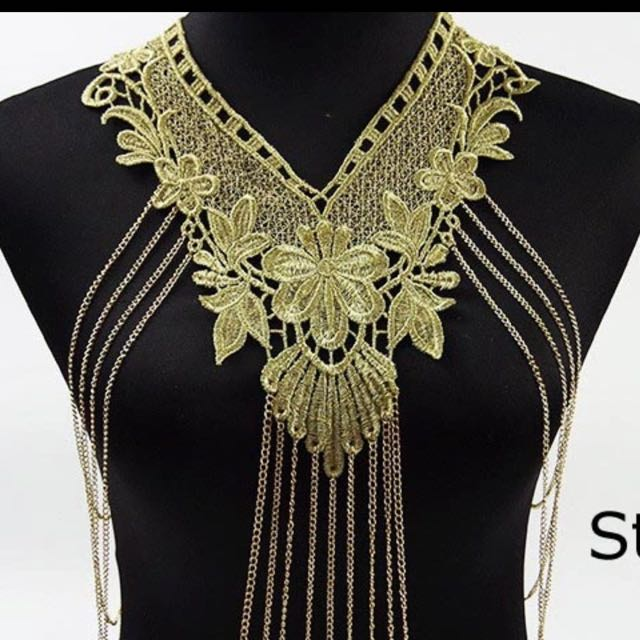 Lace Body Gold Chain Necklace