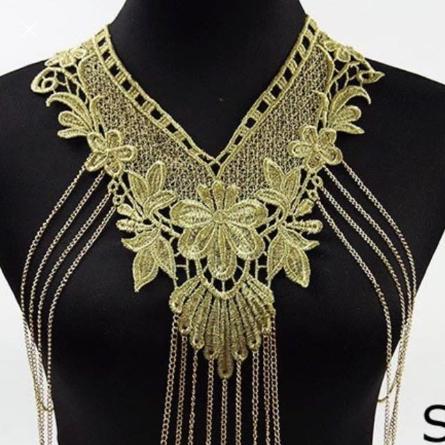 Lace Body Multi Chain Necklace