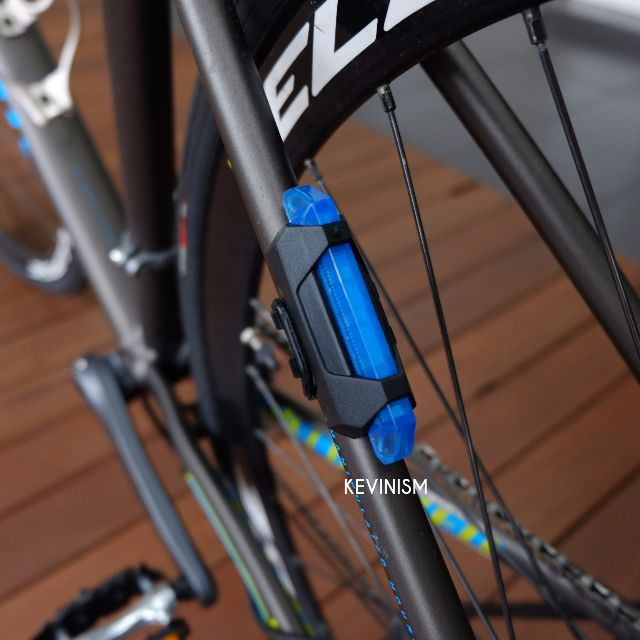 Lampu Sepeda Gowes USB Bike Rechargeable Tail Light Portable Blue Biru