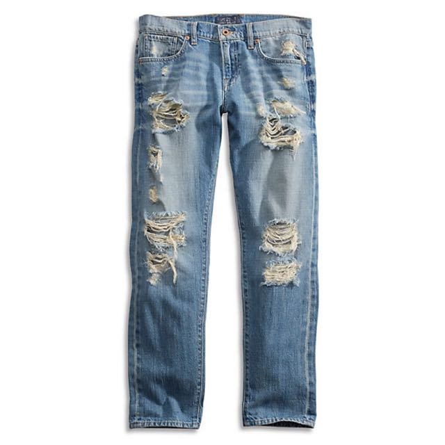 Lucky Brand Ripped Boyfriend Jeans
