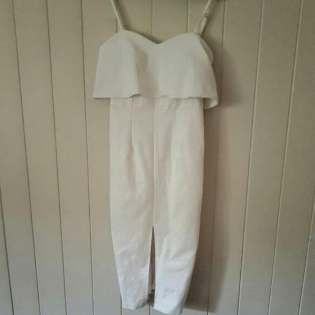 Luvalot White Midi Dress