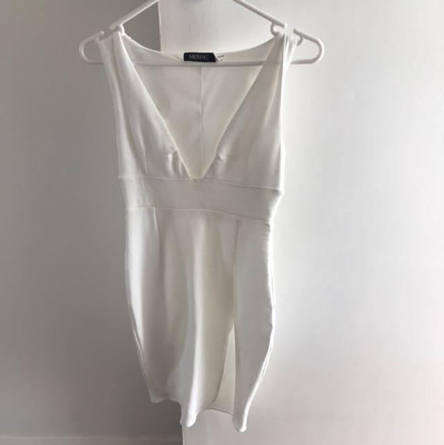 Meshki White Mini Dress XS.
