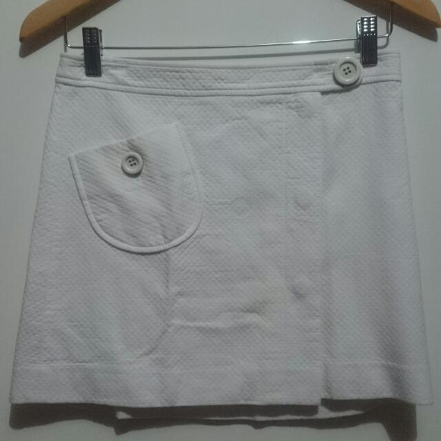 Mini Skirt White