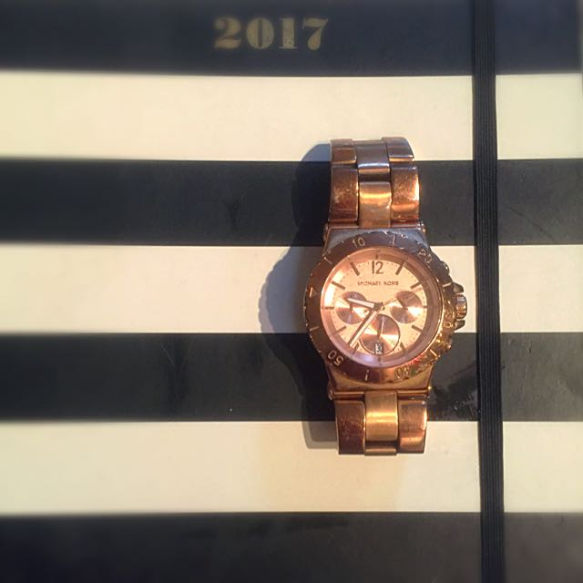 MK Oversized Rose Gold Watch