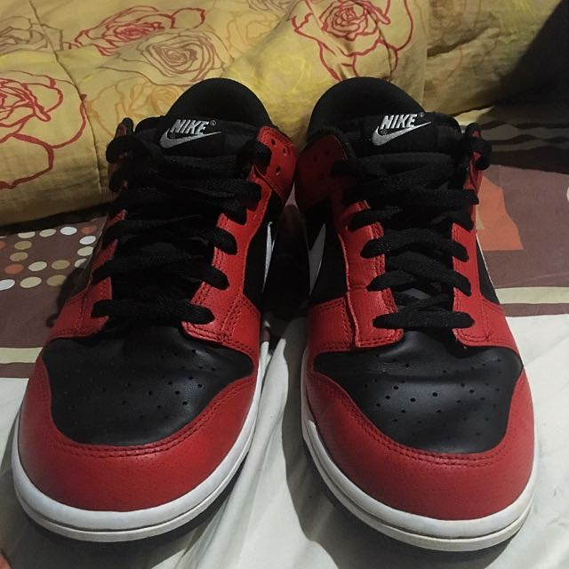 stable quality limited guantity 100% authentic Nike SB Dunk Low Black Red Original Size 44, Men's Fashion ...
