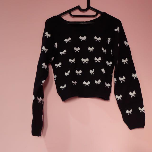 no brand - Knit Ribbon Sweater