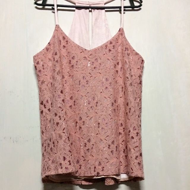 Nude Pink Lacey Top
