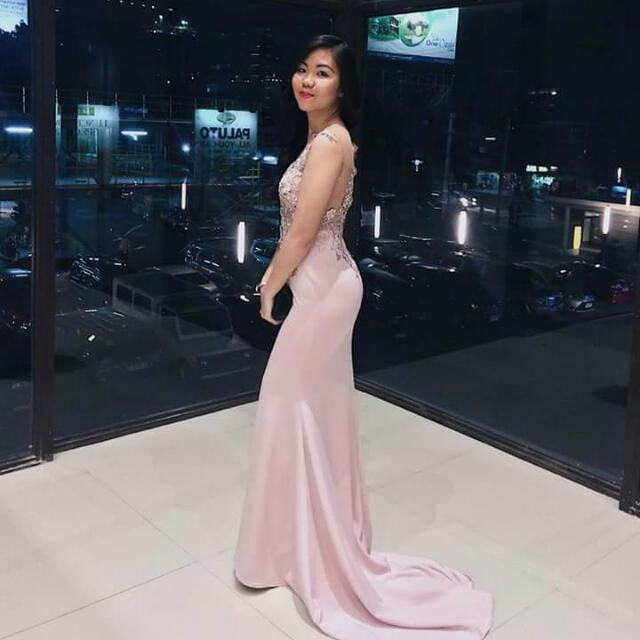 Old Rose Evening Gown For Rent, Preloved Women\'s Fashion, Clothes on ...