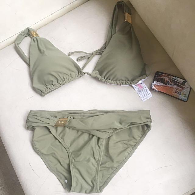Olive Green Two-Piece Bikini