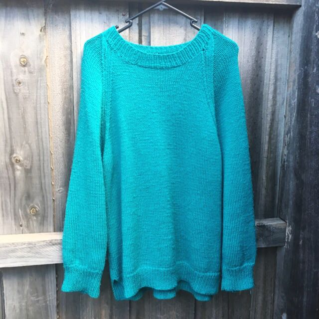 Oversized Teal Knit