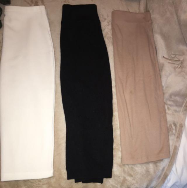 Pencil Skirt Cotton 3 Colours