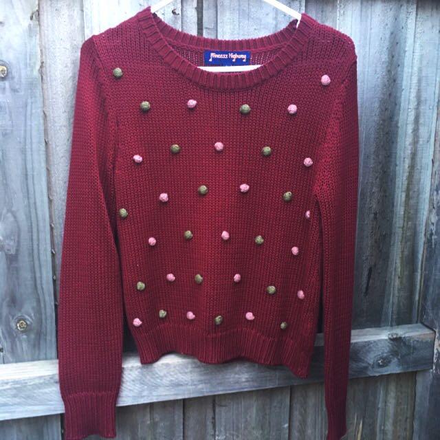 Princess Highway Pom Pom Sweater