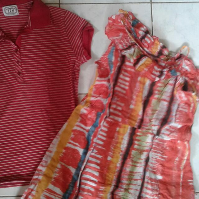 Red Blouse And Dress