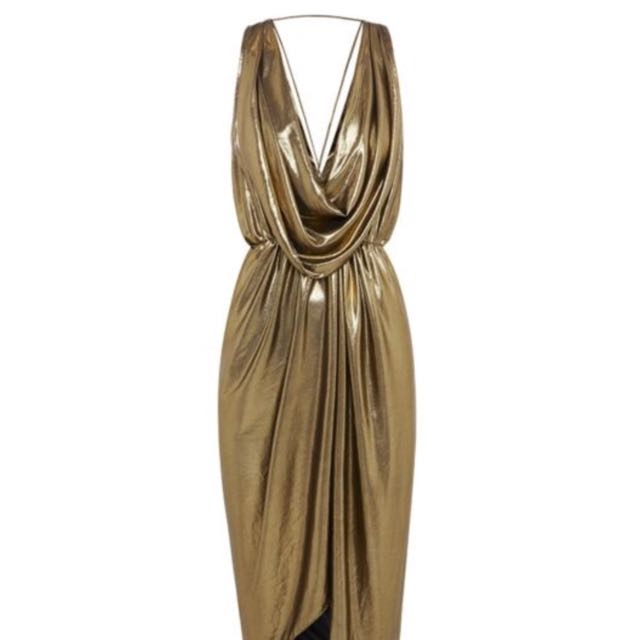 SHEIKE Gold Dress