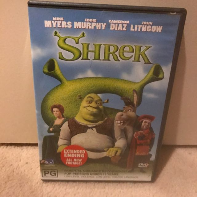 Shrek DVD Kids Animation