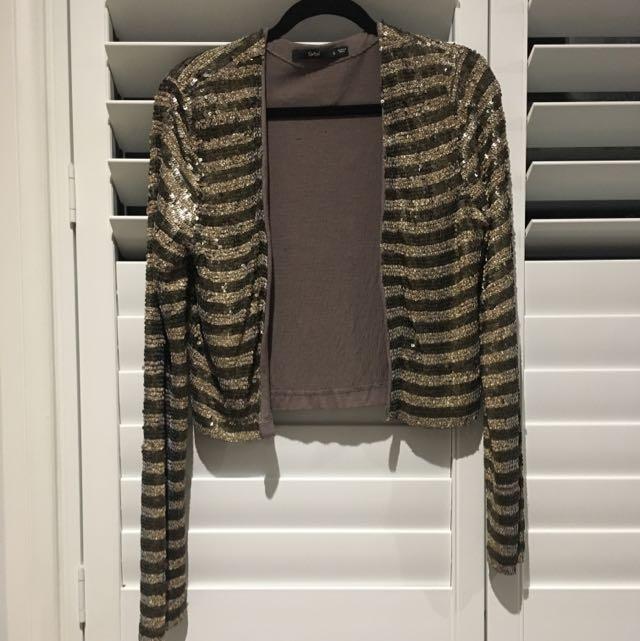 Sportsgirl Sequin Jacket Size Small