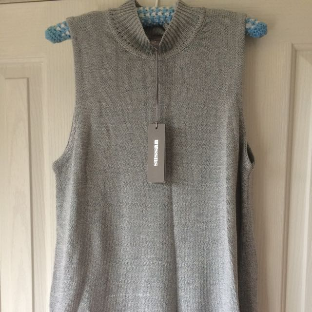 Sussan Grey Knit Top Singlet