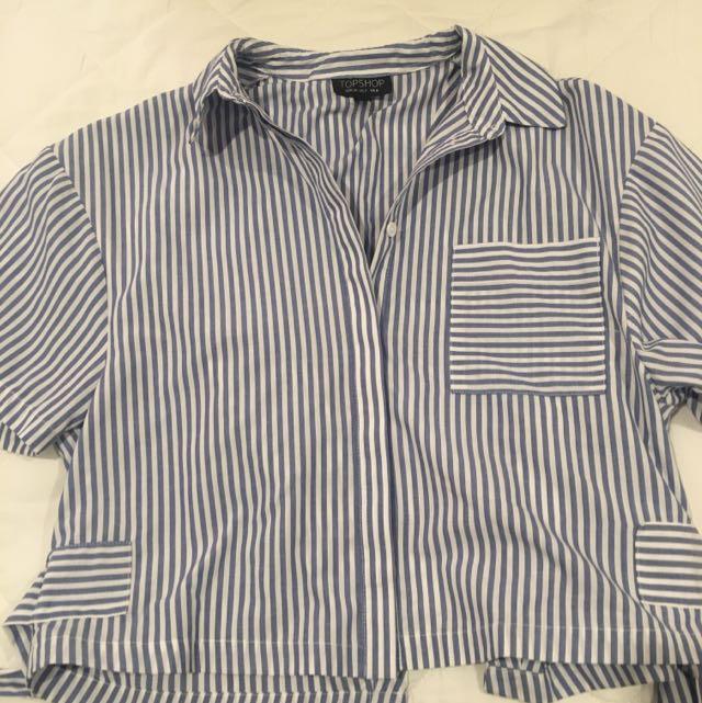Top shop Open Back Shirt