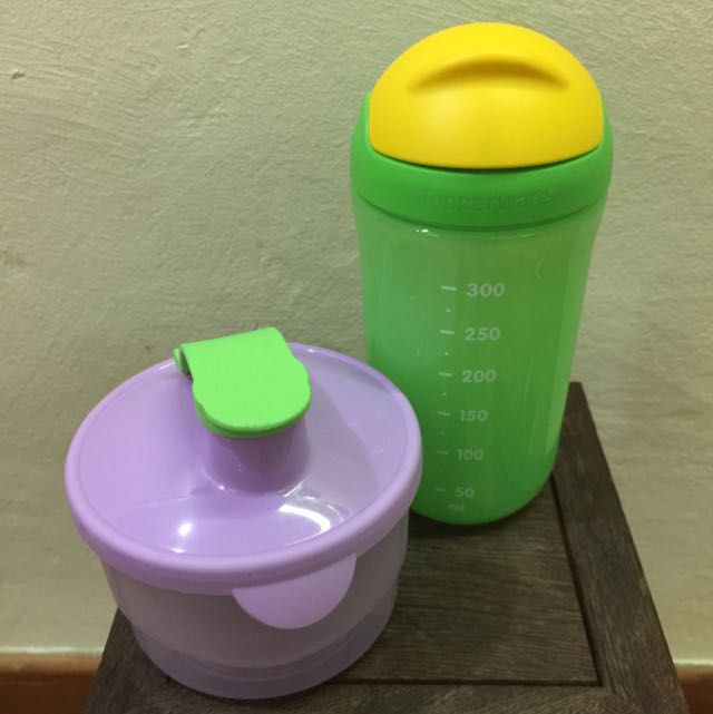 (Tupperware) Milk Powder Dispenser & Kids Water Bottle, Babies & Kids, Nursing & Feeding on Carousell