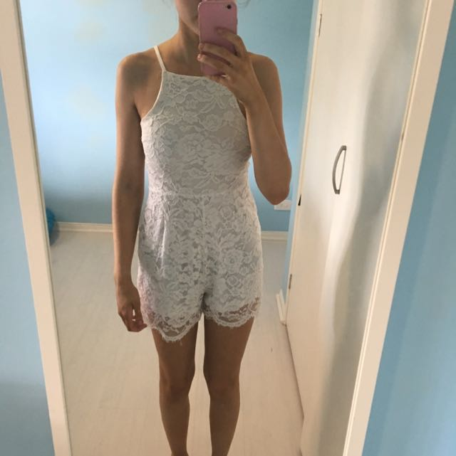 White Lace Playsuit Size S