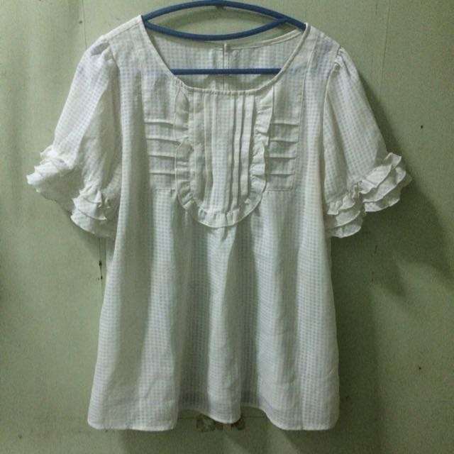 White Ruffles Blouse