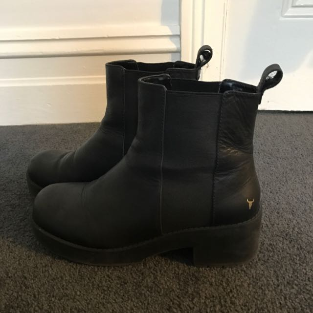 Windsor Smith EAGER Black Boots Size 9