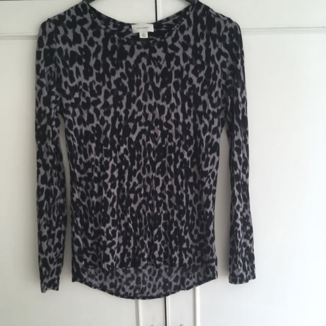 Witchery Stretch Material Leopard Print Top