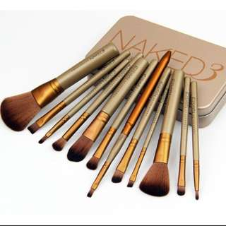 12 Pcs Naked 3 Essential Kit Makeup Brushes