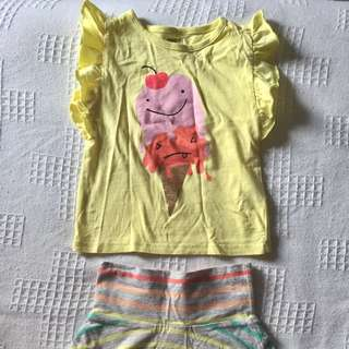 Crazy 8 Set For Girls ( Top And Skirt) 18-24 months