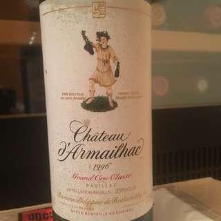 Chateau d'Armailhac 1996 (half bottle)