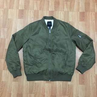 Forever 21 Army Green Bomber Jacket