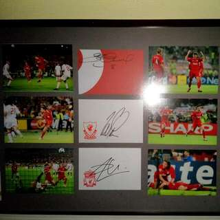 Liverpool 2005 Champions League Rare Items, Signed By Captain Steven Gerrard, Smicer,  Alonso And All Match Tickets