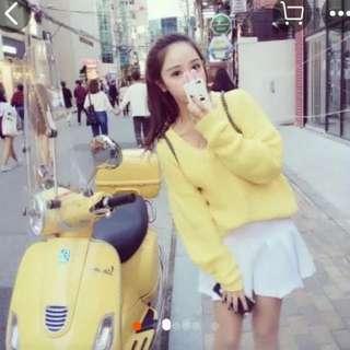韓版糖果色V字領性感針織 #百元全新女裝