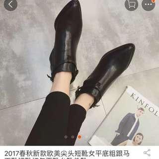 全新超美好質感短靴 (24號)