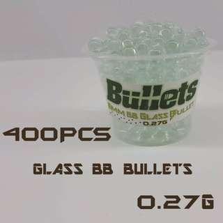 High Quality Glass BB Gun Bullets 6mm 0.27g 400pcs