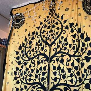 Yellow Tree Of Life Tapestry