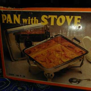 Pan With Stove (Tempat Makan Untuk Prasmanan)  , Satu Box Isinya 2