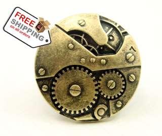 Fashion Big Gear Ring Finger Punk Accessories Fashion Jewelry + Free Shipping
