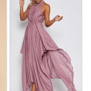 Pressed Maxi Dress