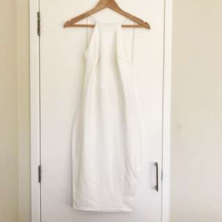 Asos White Backless Party Dress