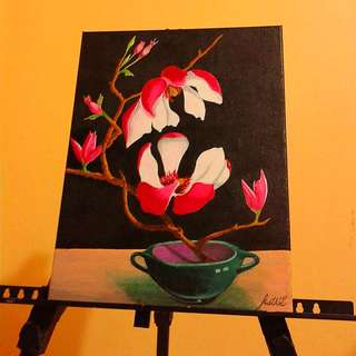 Flower Oil on Canvas Painting