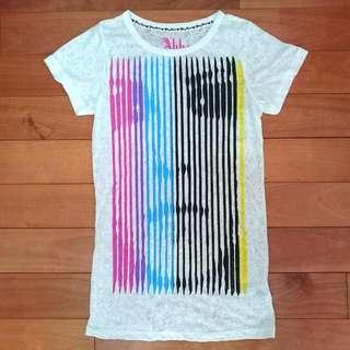 Avril 艾薇兒自創品牌 Abbey DAWN 彩色線條上衣 T-shirt